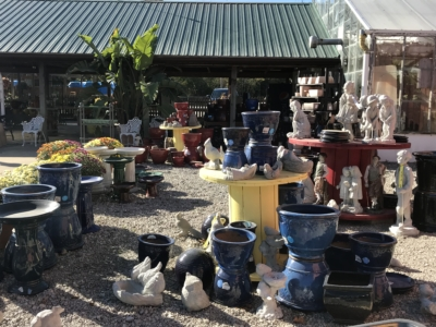 pottery and statuary